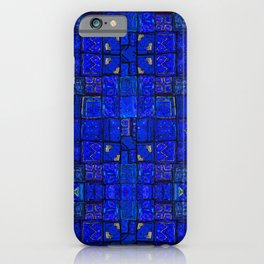 N99 - Calm Blue Traditional Moroccan Geometric Shapes.  iPhone Case