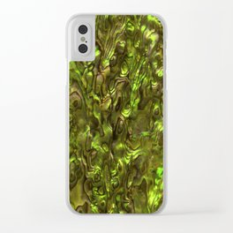 Abalone Shell | Paua Shell | Yellow Tint Clear iPhone Case