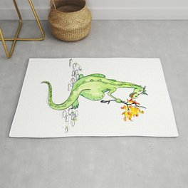 Dinosaur S'Mores Children's Art Rug