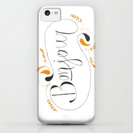 Bonjour | Handlettered Print iPhone Case