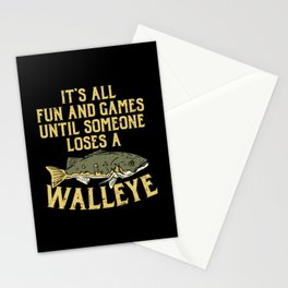 Fishing & Lake Design: Until Someone Loses A Walleye Stationery Cards