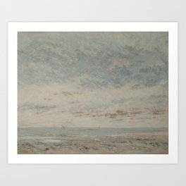 Low Tide at Trouville by Gustave Courbet Art Print