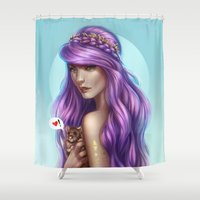 rat Shower Curtains featuring Lovely Rat by Bea González