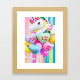 Conversation Heart Balloons Framed Art Print