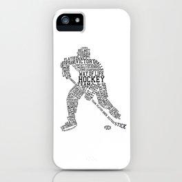 Hockey Words iPhone Case