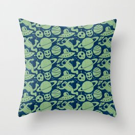 Spaced Out II Throw Pillow