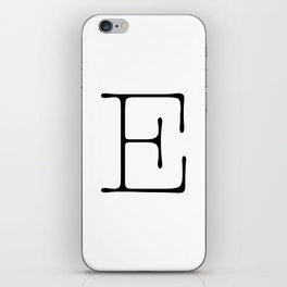 Letter E Typewriting iPhone Skin
