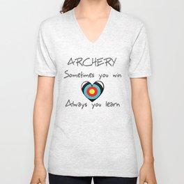 Archery. Sometimes you win, always you learn. Unisex V-Neck