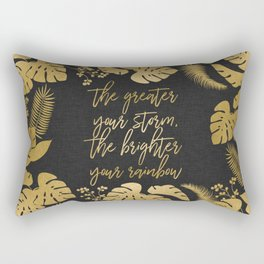 The Greater Your Storm Rectangular Pillow