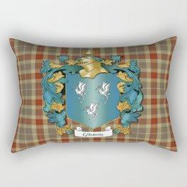 Gibson Coat of Arms and Tartan Rectangular Pillow