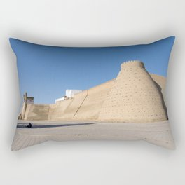 Entrance to Ark fortress - Bukhara, Uzbekistan Rectangular Pillow