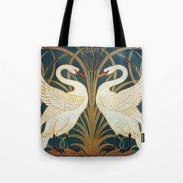 Walter Crane Swan, Rush And Iris Tote Bag