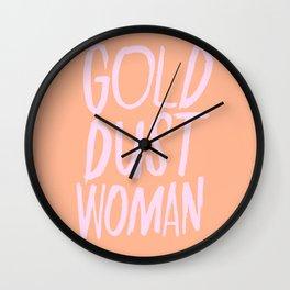 Gold Dust Woman Wall Clock