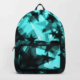Dark celestial space stars with the glow from the foil in perspective. Backpack