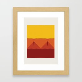 Geometric Afternoon Print Framed Art Print