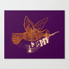 Musical Sunset Canvas Print