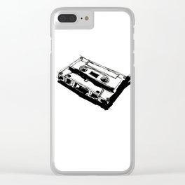 Retro Cassette Tape Clear iPhone Case