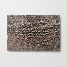 Wood Paint Bubbles Metal Print