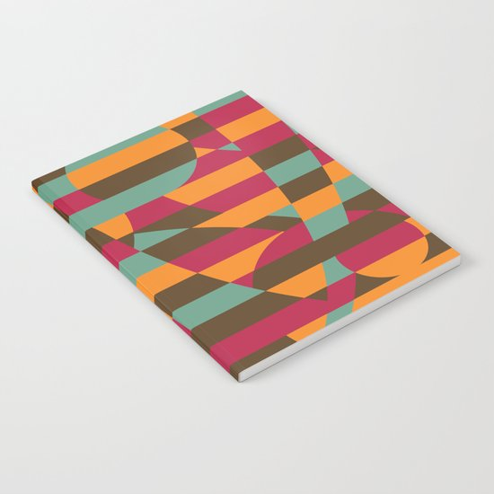 Abstract Roller Coaster Notebook