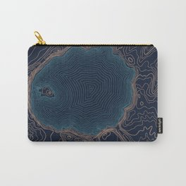 Crater Lake Topo Carry-All Pouch