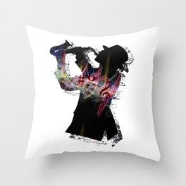 Saxophone Man Throw Pillow