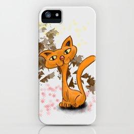 gufo e gatto 1 iPhone Case