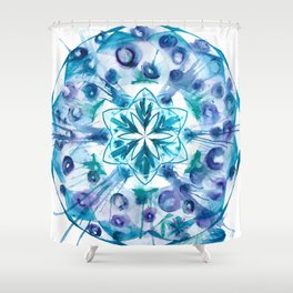 Snow Mandala Shower Curtain