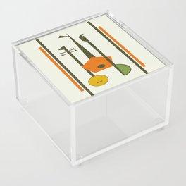 Mid-Century Modern Art Musical Strings Acrylic Box