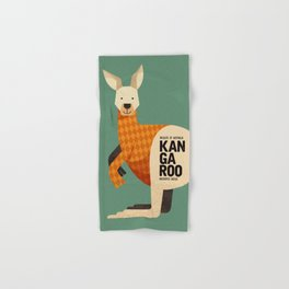 Hello Kangaroo Hand & Bath Towel