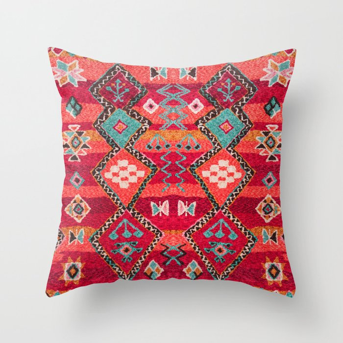 N18 - Traditional Colored Oriental Moroccan Artwork Throw Pillow