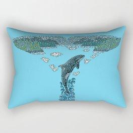 Glacier Bay II Rectangular Pillow