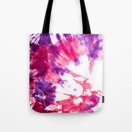 Modern Artsy Abstract Neon Pink Purple Tie Dye Tote Bag