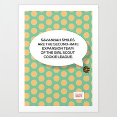 Savannah Smiles Art Print