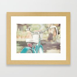 Little Bicycle Framed Art Print