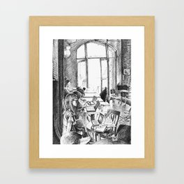 Find a Place to Sit Framed Art Print