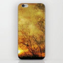 Sky Fire II - surreal landscape photo iPhone Skin