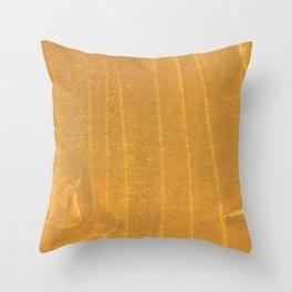 Dark yellow blurred watercolor pattern Throw Pillow