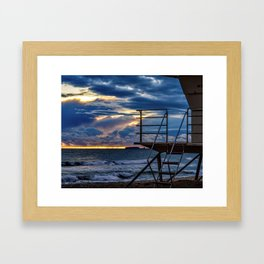 Closing Sunday (Surf City USA) Framed Art Print