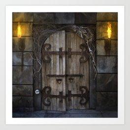 Gothic Spooky Door Art Print