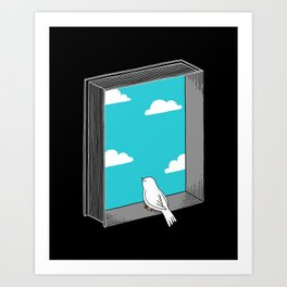 Every book a window Art Print