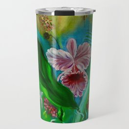 Tropical Orchid Travel Mug
