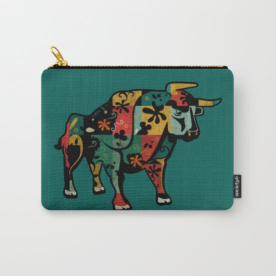 Flower Bull Carry-All Pouch