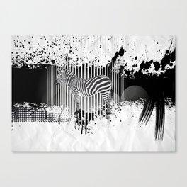 Zebra (Equiferus). Canvas Print