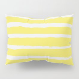 Irregular Stripes Yellow Pillow Sham