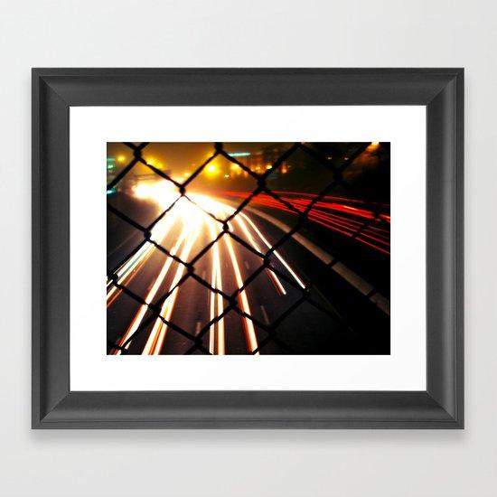 Streaming Light Framed Art Print