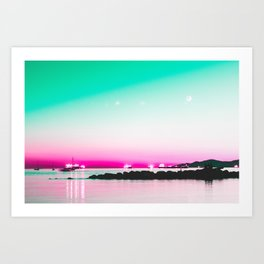 The Pink Hour Art Print