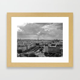 View from Notre Dame B&W Framed Art Print