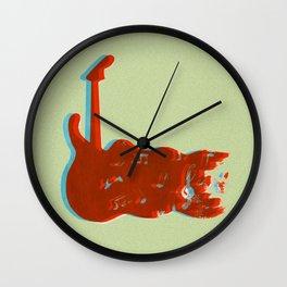 Silkscreen guitar print Wall Clock