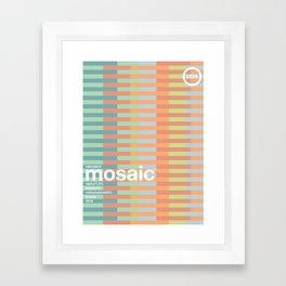 mosaic single hop Framed Art Print