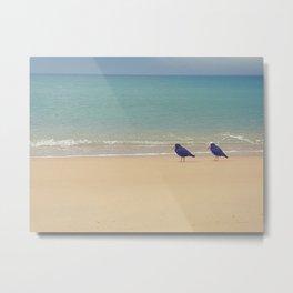 Golden beaches Metal Print
